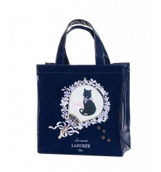 BEAUTE LADUREE LE SAC PETIT MODELE - PORTRAIT CHAT MARINE