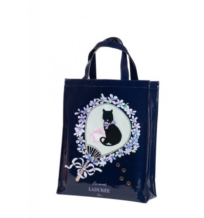 BEAUTE LADUREE LE SAC GRAND MODELE - PORTRAIT CHAT MARINE