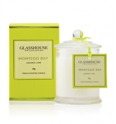 BOUGIE GLASSHOUSE 60G MONTEGO BAY COCONUT LIME