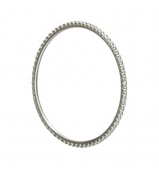 CHRISTOFLE MADISON STYLE - BRACELET JONC ARGENT MASSIF T2